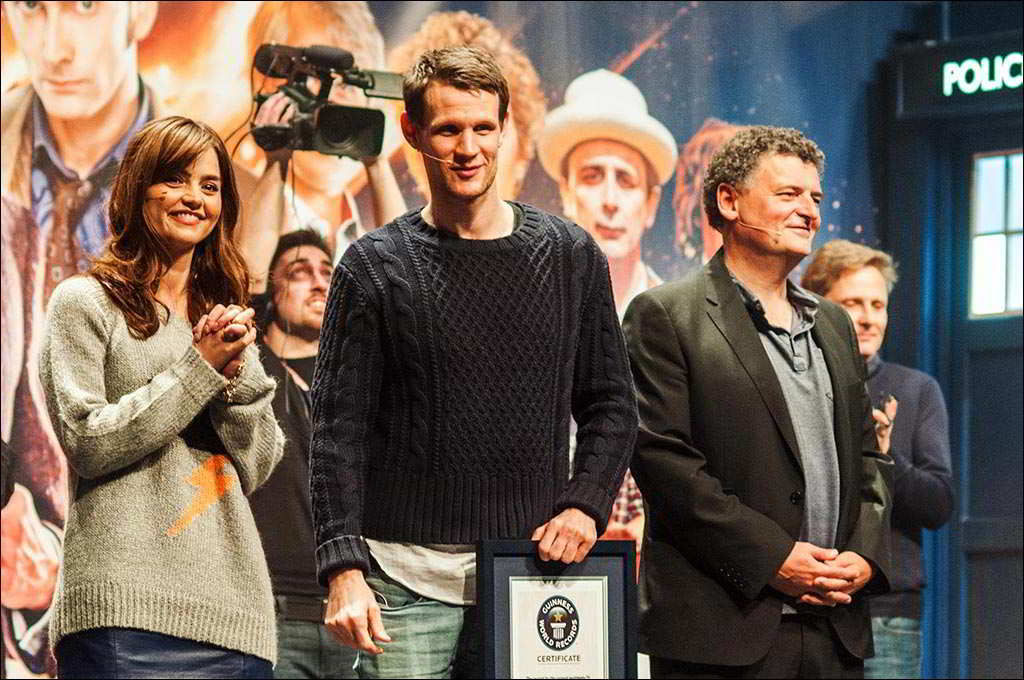 London ExCel - Doctor Who Celebration - BBC - Jenna Coleman, Matt Smith, Steven Moffat